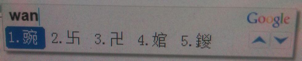 wan pinyin